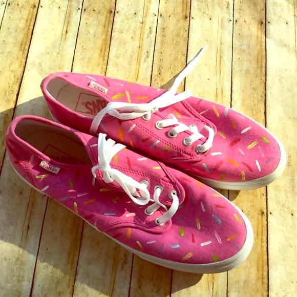 89798adf4deb ✅Vans Pink Customized Confetti Sprinkles Size10. M 5b81e52f4cdc305442377091